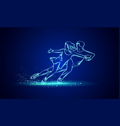 Pair figure skating sport vector