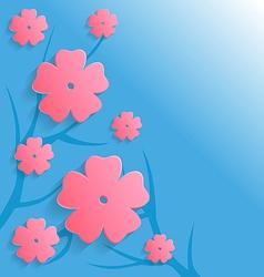 Paper flower pink vector