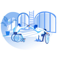 paralympic competition flat vector image