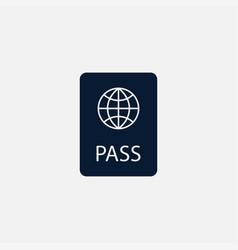passport icon simple vector image