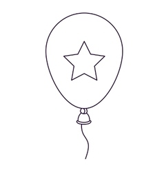 patriotic balloon air isolated icon design vector image