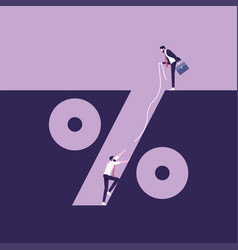 Percentage hole-business financial crisis concept vector