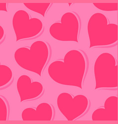 Pink background with hearts vector