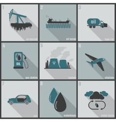 production use and oil pollution vector image