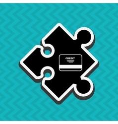 Puzzle piece design vector