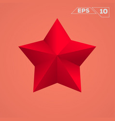 Red star icon vector