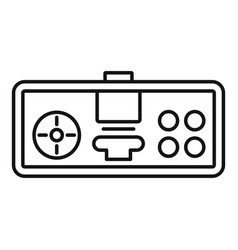 retro gamepad icon outline style vector image