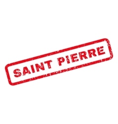 Saint Pierre Rubber Stamp vector image