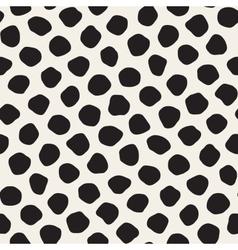 Seamless Black And White Jumble Circles vector