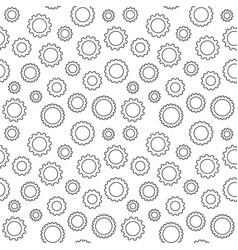 Seamless gear wheel concept pattern vector