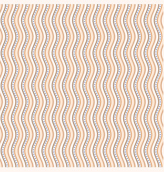 seamless pattern with wavy stripes vector image