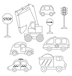 Set of various cars vector