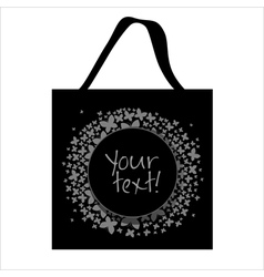 Shopping bag butterfly design vector image