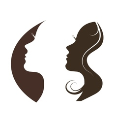 Silhouette of a beautiful girl vector