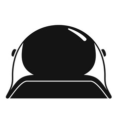 soldier helmet icon simple style vector image