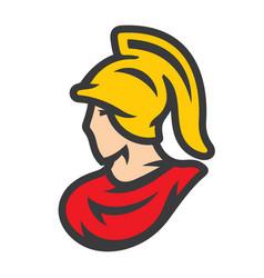 spartan in helmet sign vector image