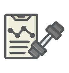 Sport training program filled outline icon vector
