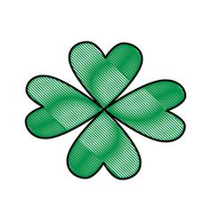 st patricks day celebration four-leaf clover image vector image