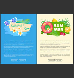 Summer summertime sale online web banner vector