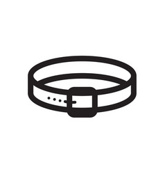 Thin line dog collar icon vector