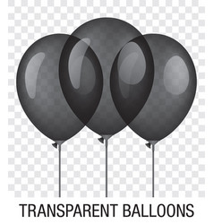Transparent black ballons vector
