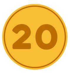 twenty gold coin vector image