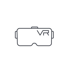 Vr glasses goggles virtual reality 360 thin line vector