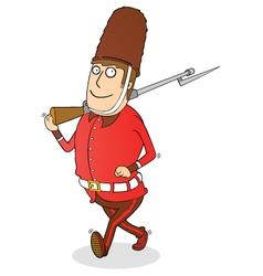 Walking royal guard vector