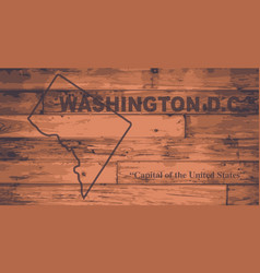 Washington dc map brand vector