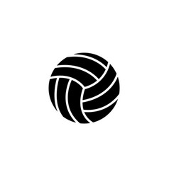 web icon volleyball black on white background vector image
