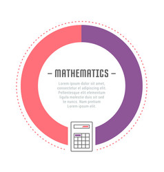 Website banner and landing page mathematics vector