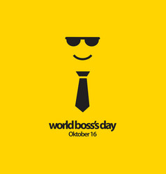 World bosss day template design vector