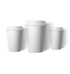 Coffee Cup Set Isolated on White Background vector image vector image
