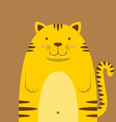 cute big fat tiger vector image vector image