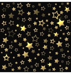 Gold shine stars christmas seamless pattern vector image