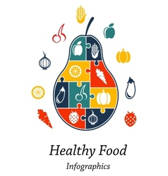 Healthy food infographics vector image