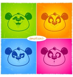panda emotions vector image
