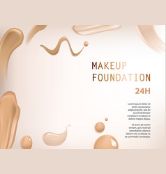 poster with texture of smears of liquid foundation vector image vector image