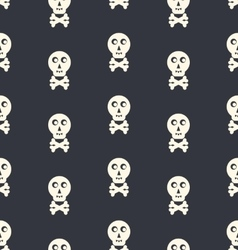 Skull and Bones seamless background typography vector image
