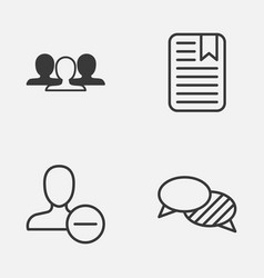 social icons set collection of speaking note vector image vector image