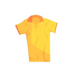 yellow sport polo shirt vector image