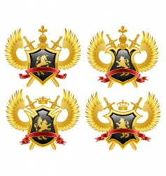 coat of arms shield vector image vector image