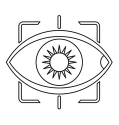 eye with integrated camera lens icon outline style vector image