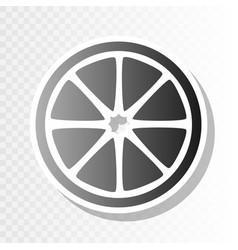 fruits lemon sign new year blackish icon vector image vector image