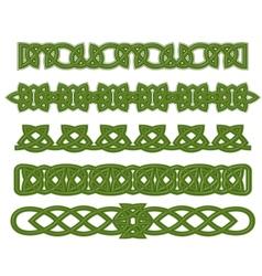 Green celtic ornaments vector image