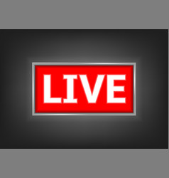 red live button vector image vector image