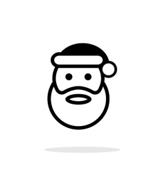 Santa Claus icon on white background vector image vector image