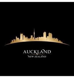 Auckland new zealand city skyline silhouette vector