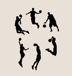 Basketball Player collection vector image vector image