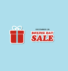 boxing day sale banner vector image vector image